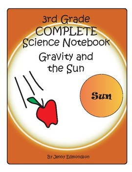 Science Notebook 3rd Grade: Gravity and the Sun
