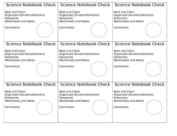 Science Notebook Check
