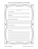 Science Notebook Experiment Template