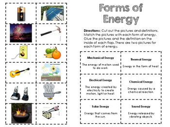 Science Notebook} - Forms of Energy Foldable by Mrs Padak | TpT