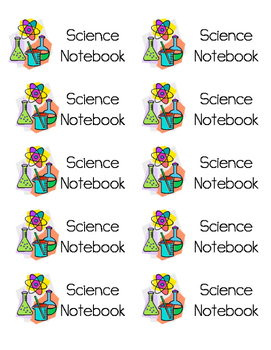 Science Notebook Labels