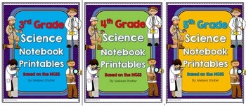 Science Notebook Printables and Activities BUNDLE Grades 2-5