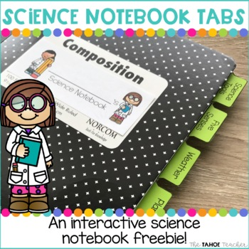 Science Notebook Tab Dividers   Science Resources for Primary Grades