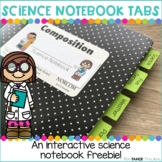 Science Notebook Tab Dividers | Science Resources for Prim