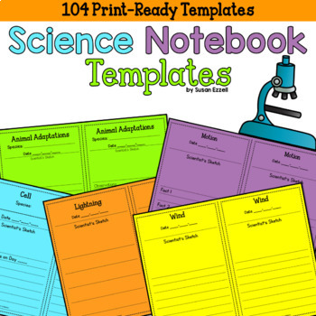 Science Notebook Templates - NO PREP! 24 Science Concepts Templates