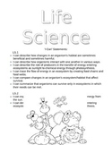 Science Notebook Title Page - Life Science