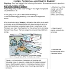 Science Notes - Forms of Energy (5 - 8)