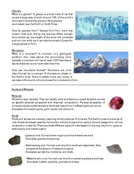 Science Notes: Insulators/Conductors, Renewable Energy, Natural Disasters, Rocks