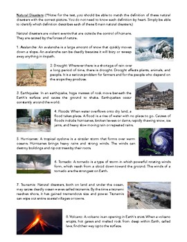 Science Notes: Insulators/Conductors, Renewable Energy, Natural Disasters, Rocks