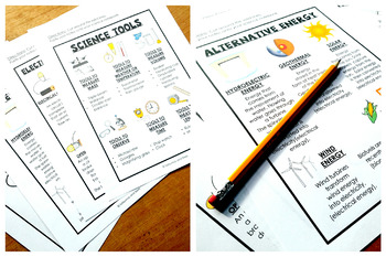 Science Notes-Interactive Science Notebook {Test Prep}