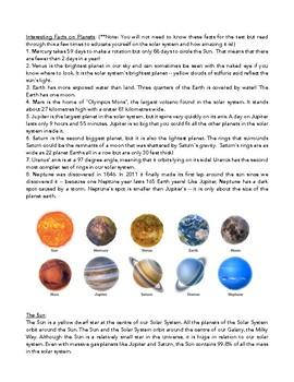 Science Notes: Revolution/Rotation, Seasons, Solar System, Stars, Tides, etc.