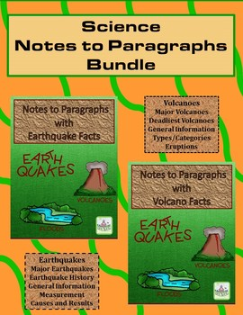 Science Notes to Paragraphs Bundle