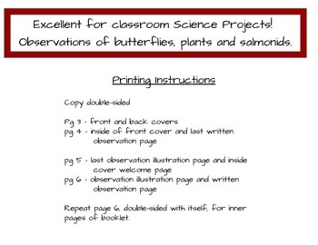 Science Observation Booklet