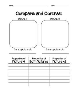 Science Observation Compare/Contrast