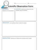 Science Observation Form - Please vote/leave comment :)