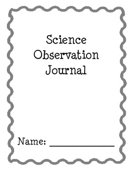 Science Observation Journal Cover