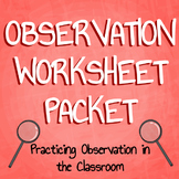 Science Observation Sheet Mini Pack