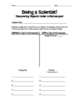 Science Observation Template
