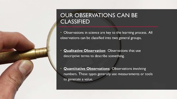 Science, Observation Types: Editable PowerPoint Lesson 2