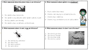 Science: Observation, prediction, inference, and conclusions TASK CARDS