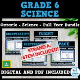 Science - Ontario Grade 6 - Flight, Space, Biodiversity, a
