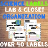 Science Organization Closet and Cabinet Labels