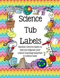 Science Organizational Tub Labels (includes labels for 20+