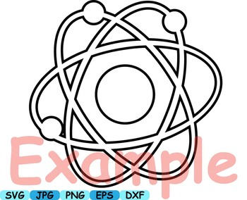 Science Outline School clip art crazy math atom scientist chemistry lab -105s
