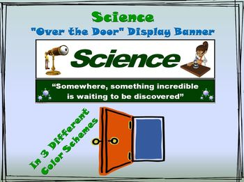 """Science Banner #1: """"Somewhere, something incredible is wai"""