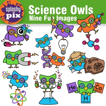 Science Owls Clipart