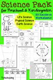 Science Pack for Preschool & Kindergarten