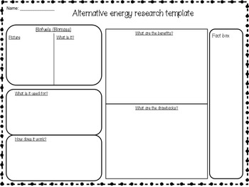 Science Packet: Alternative, renewable, and nonrenewable energy resources