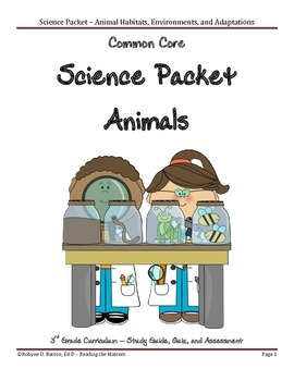 Science Packet: Animals (3rd Grade Common Core)