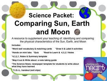 Science Packet: Comparing Sun, Earth, and Moon