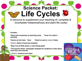 Science Packet: Life Cycles