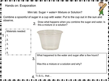 Science Packet: Mixtures an... by Teaching With Heart Matters ...