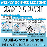 Science Distance Learning Packets 3rd 4th 5th Grade Bundle