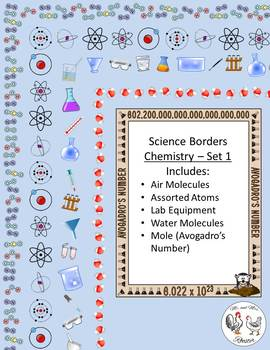 Science Page Borders BUNDLE: Chemistry Sets 1 and 2