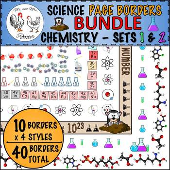 Science Page Borders BUNDLE: Chemistry Sets 1 and 2 {Portrait Borders}