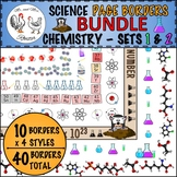 Science Page Borders BUNDLE: Chemistry Sets 1 and 2 {Portr
