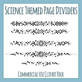 Science Page Divider Lines / Scifi Lines Clip Art Set for