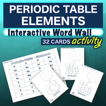 Science periodic table elements interactive word wall activity science periodic table elements interactive word wall activity no prep urtaz Images