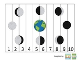 Science Phases of the Moon Number Sequence Puzzle 1-10 preschool homeschool