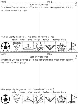 Integrated Science (SC.1.P.8.1 Sorting Objects) & Short I - Poem and Mini Unit