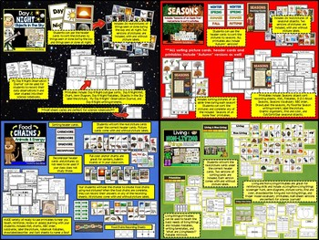 Science Sorting Pictures and Activities BUNDLE PACK!!