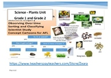 Science Plants Concept Map and Overview Grade 1