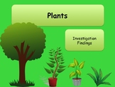 Science Plants Investigation Findings Complete Lesson