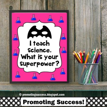 Science Teacher Gift, Superpower Quote Poster