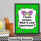 What is Your Superpower, Science Poster, Superhero Classroom Theme