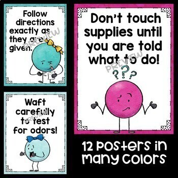 Science Poster Mini Bundle featuring Dot People